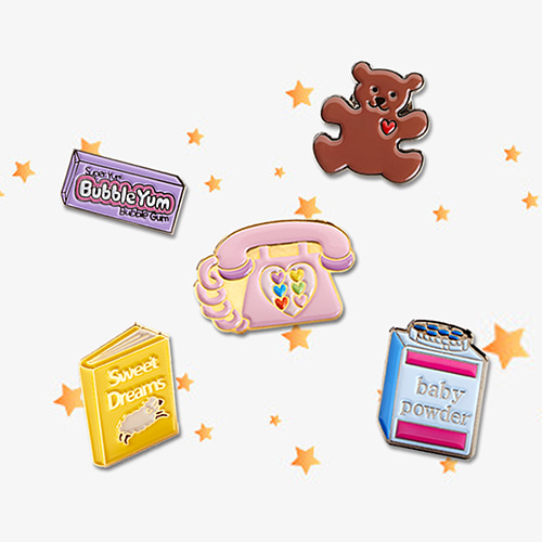 CALL ME BABY BADGE SET