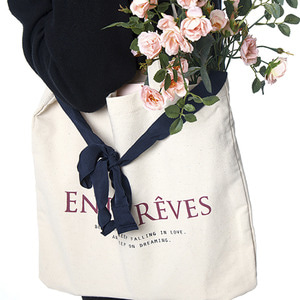 LOGO ECO BAG-NAVY RIBBON