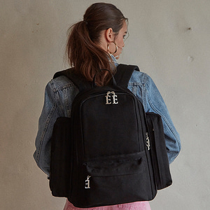 [와펜증정] THE BLANK BACKPACK - BLACK